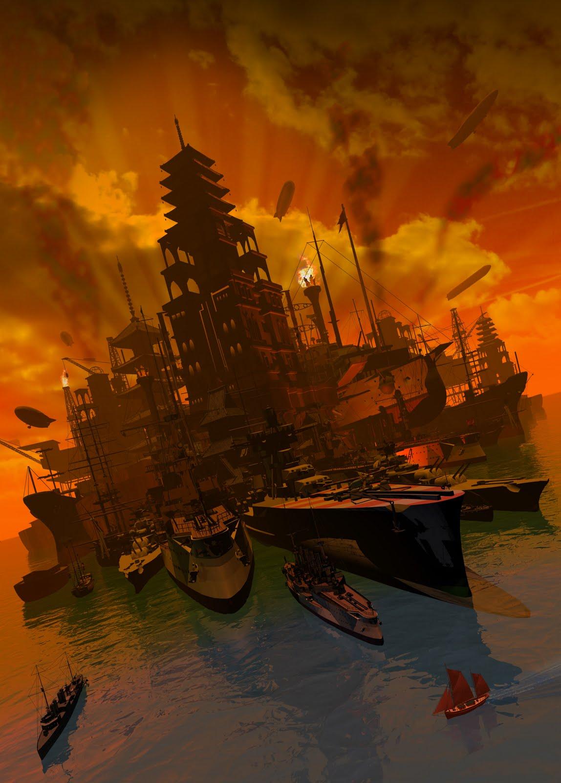 Armada Artwork By Franco Brambilla