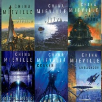 Edward Miller's awesome cover art for the Czech editions of China Miéville's books