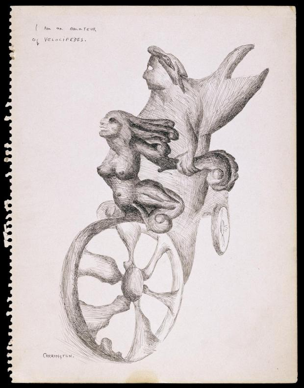 I am an Amateur of Velocipedes 1941 Leonora Carrington 1917-2011 Purchased 2004 http://www.tate.org.uk/art/work/T11910